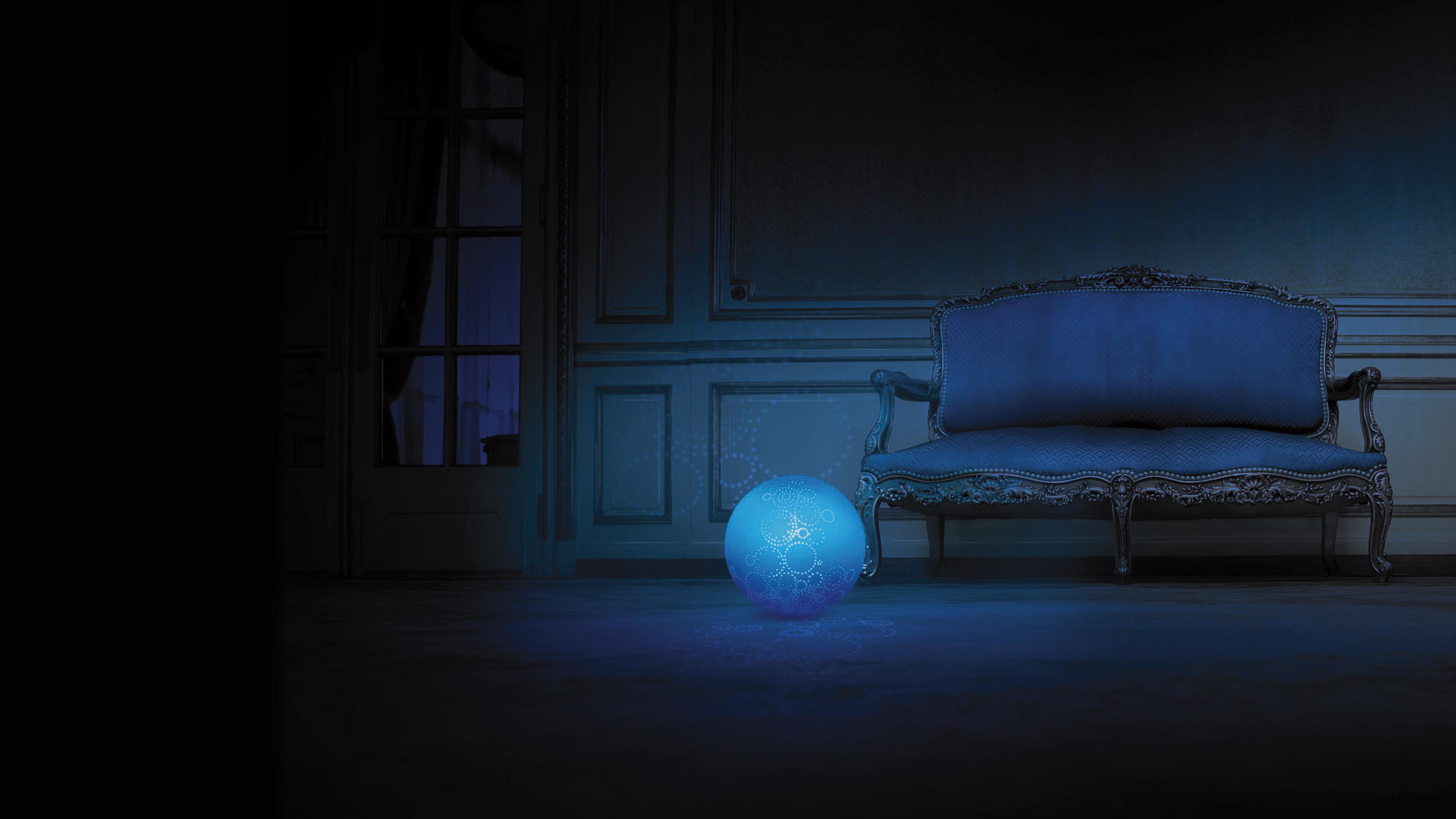 Star smoon bleue baroque