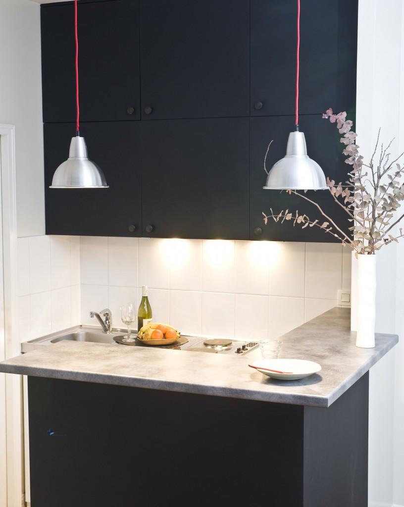 des jolies couleurs pour la cuisine grise noire aubergine rose. Black Bedroom Furniture Sets. Home Design Ideas