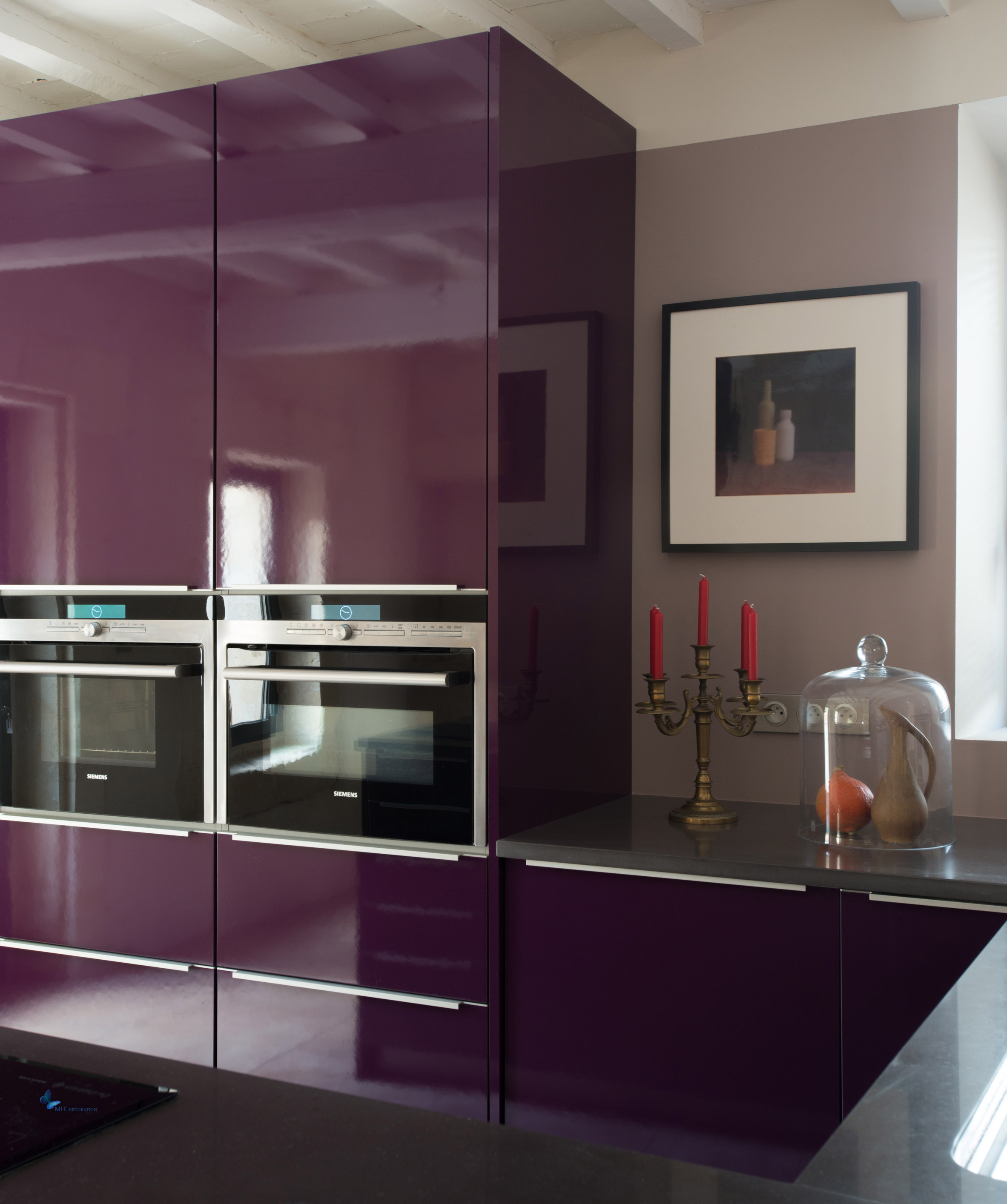 cuisine couleur aubergine archives le blog d co de mlc. Black Bedroom Furniture Sets. Home Design Ideas
