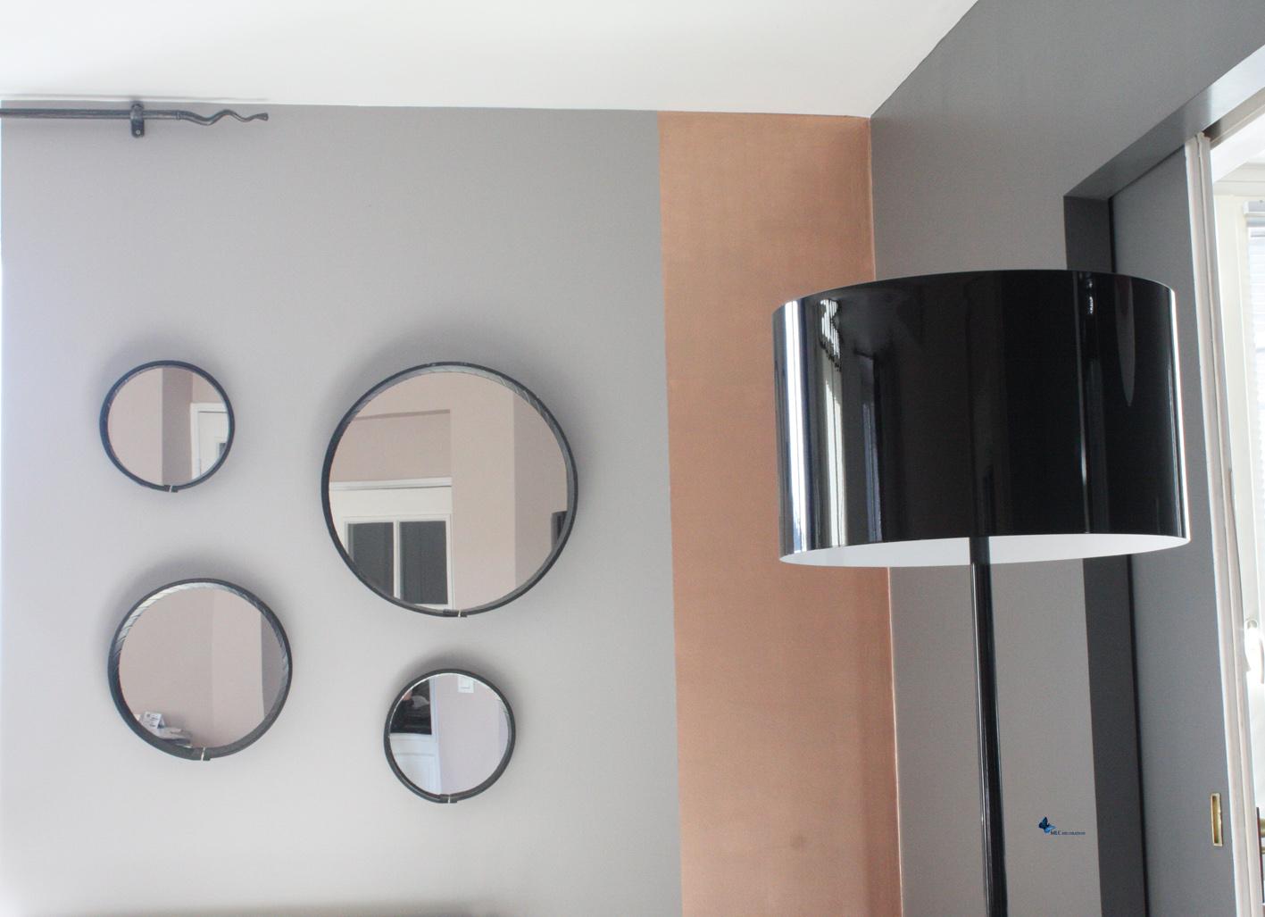 D coration murale effet m tal peinture cuivre - Deco salon cuivre ...
