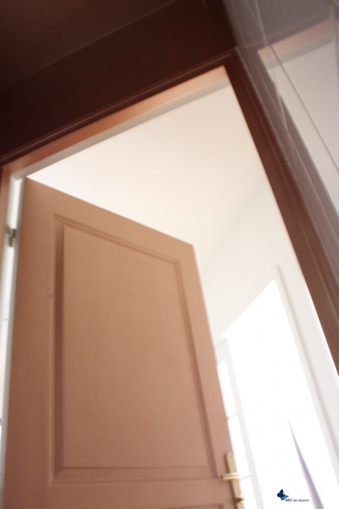 d coration murale effet m tal peinture cuivre. Black Bedroom Furniture Sets. Home Design Ideas