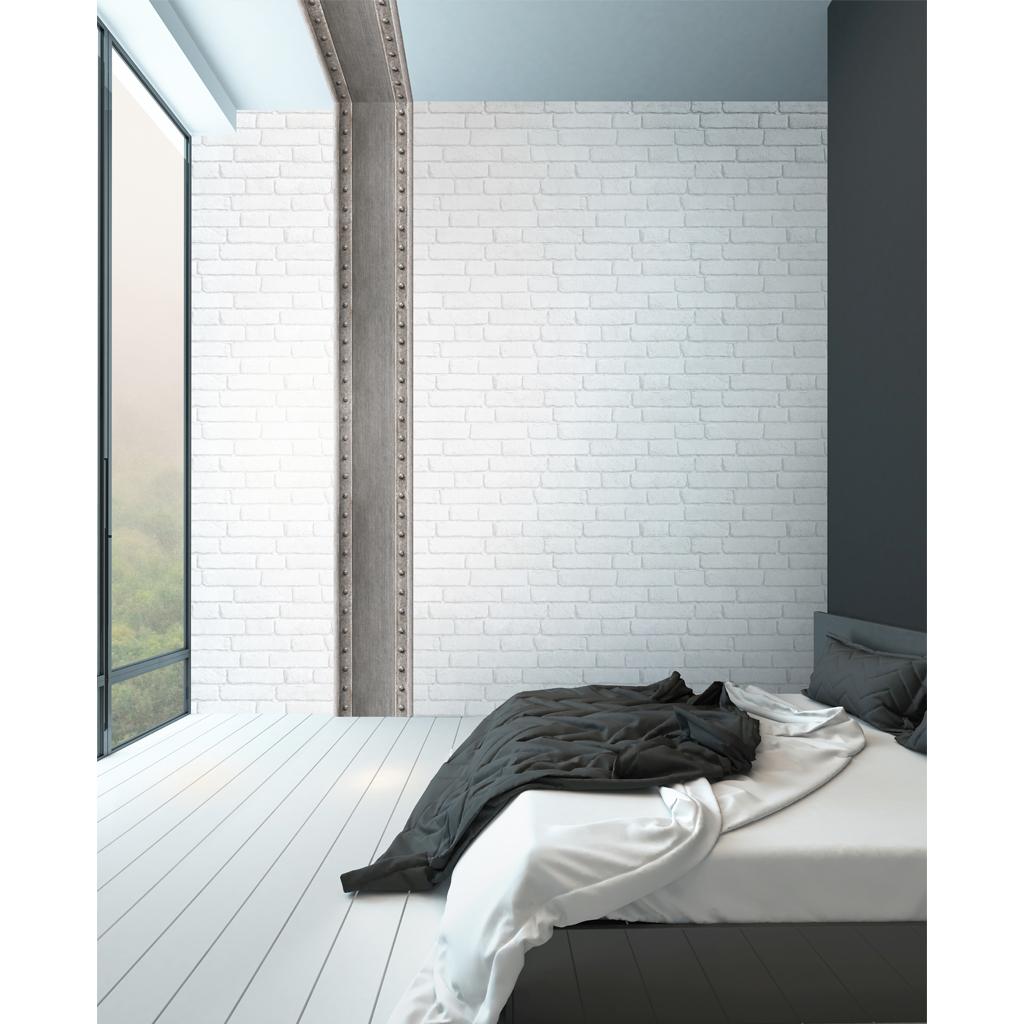 nouvelle dco industrielle koziel poutres chambre - Papier Peint Industriel Chambre