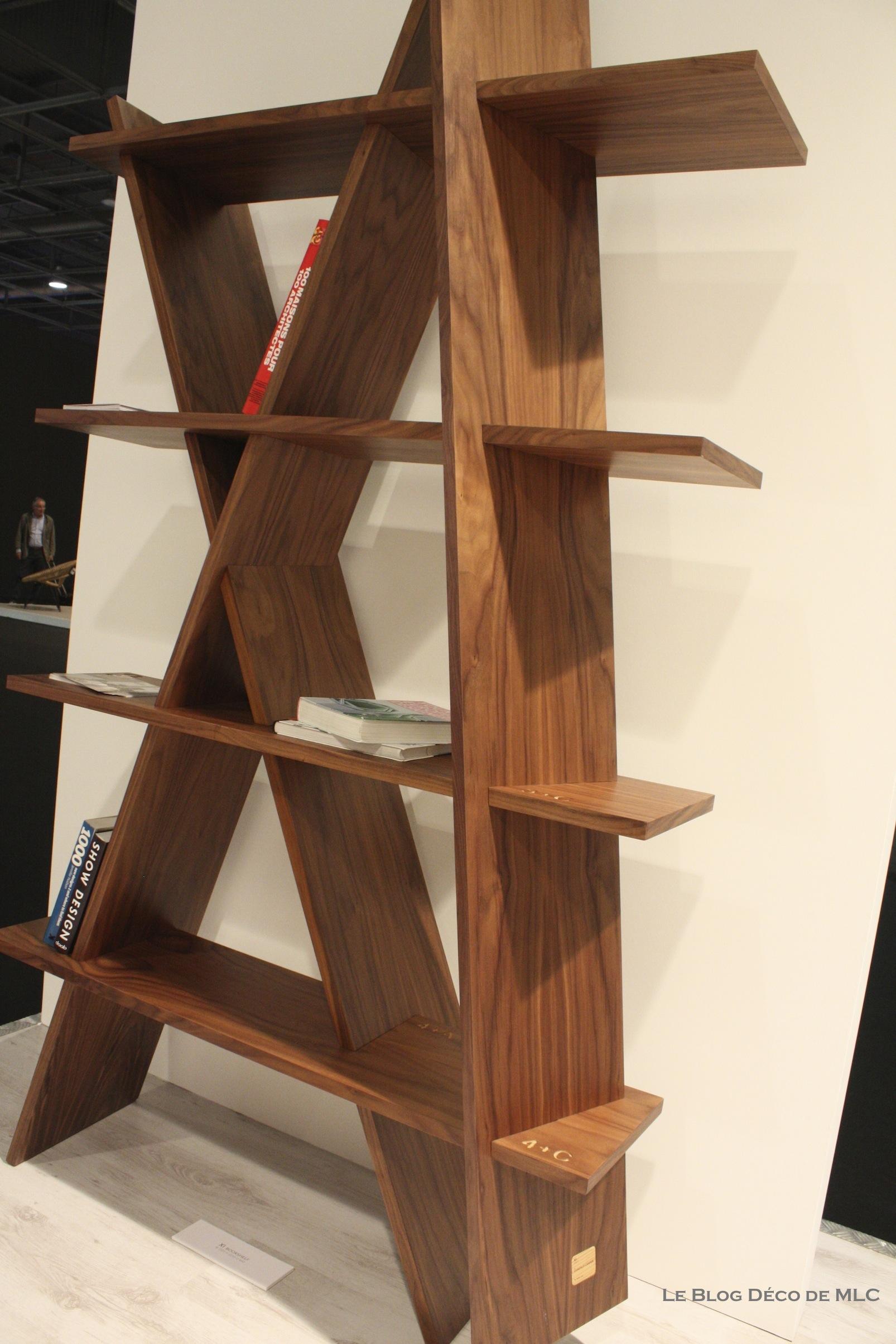 tendance bois couleur noyer nouveau bibliothque