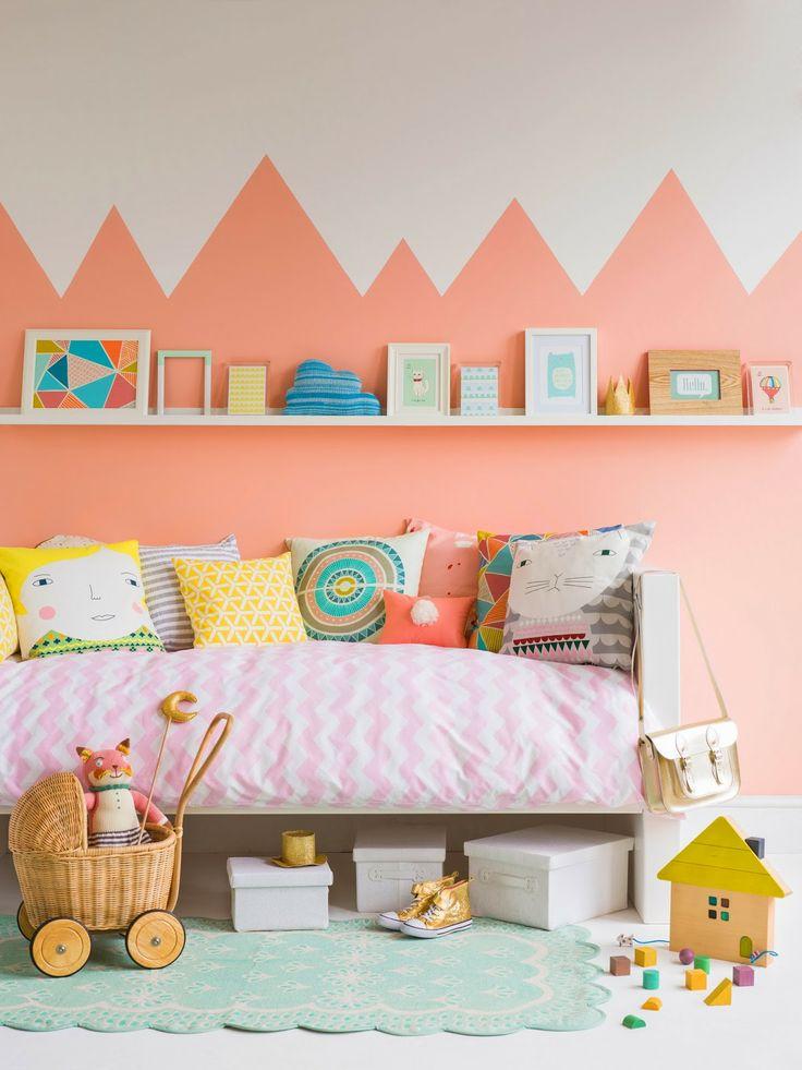 Chambre enfant d co de mur color e facile et bluffante - Chambre enfant coloree ...