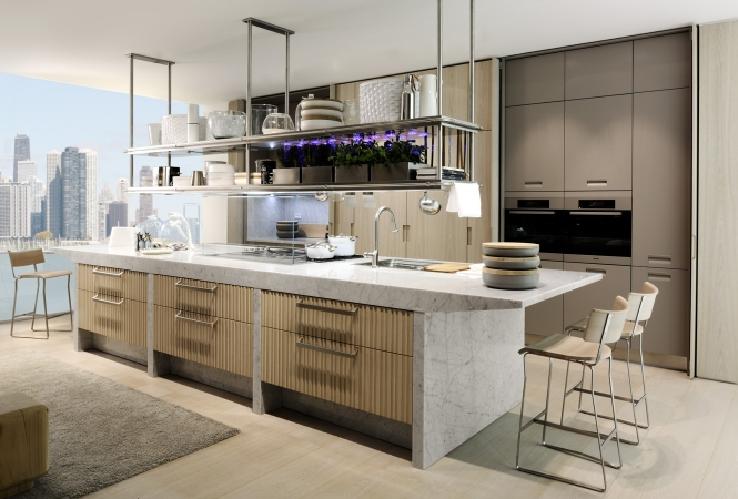 cuisine aménagée - meuble haut suspendu - placard haut - Meuble De Cuisine Suspendu