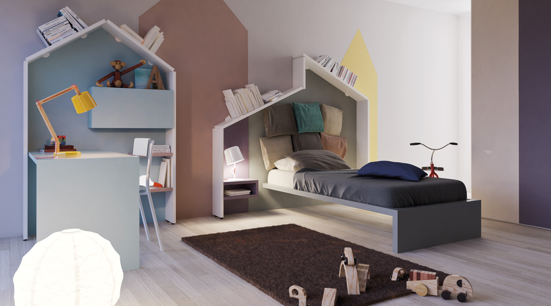 chambre enfant d co de mur color e facile et bluffante. Black Bedroom Furniture Sets. Home Design Ideas