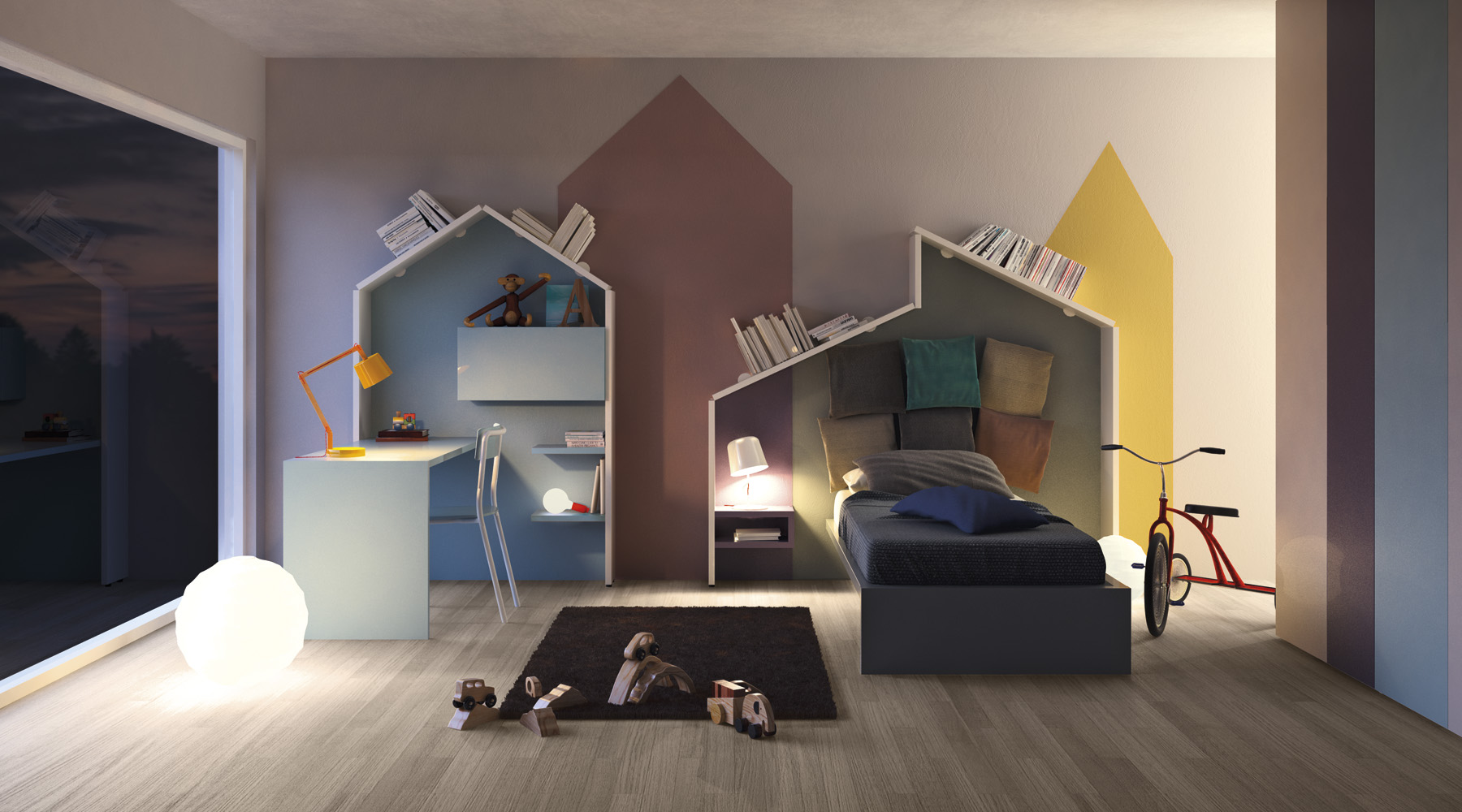 Chambre enfant d co de mur color e facile et bluffante for Design camerette