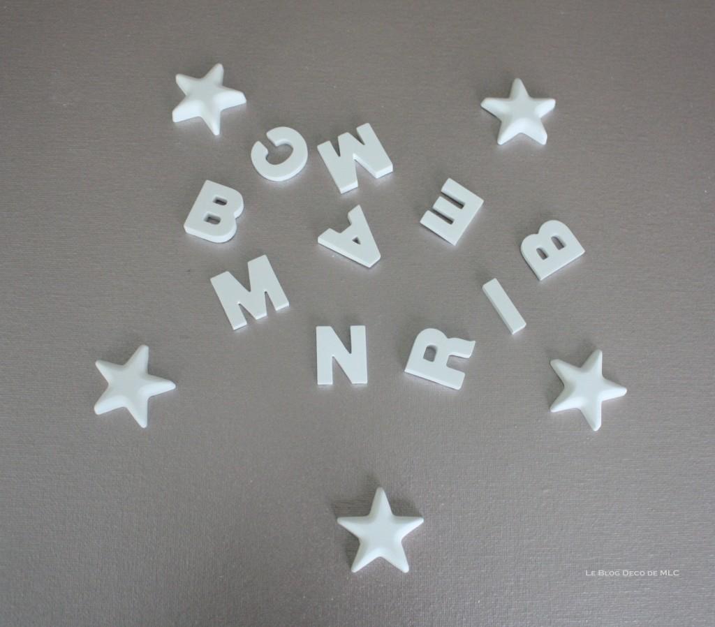 DIY-déco-facile-étoiles-et-lettres-en plâtre