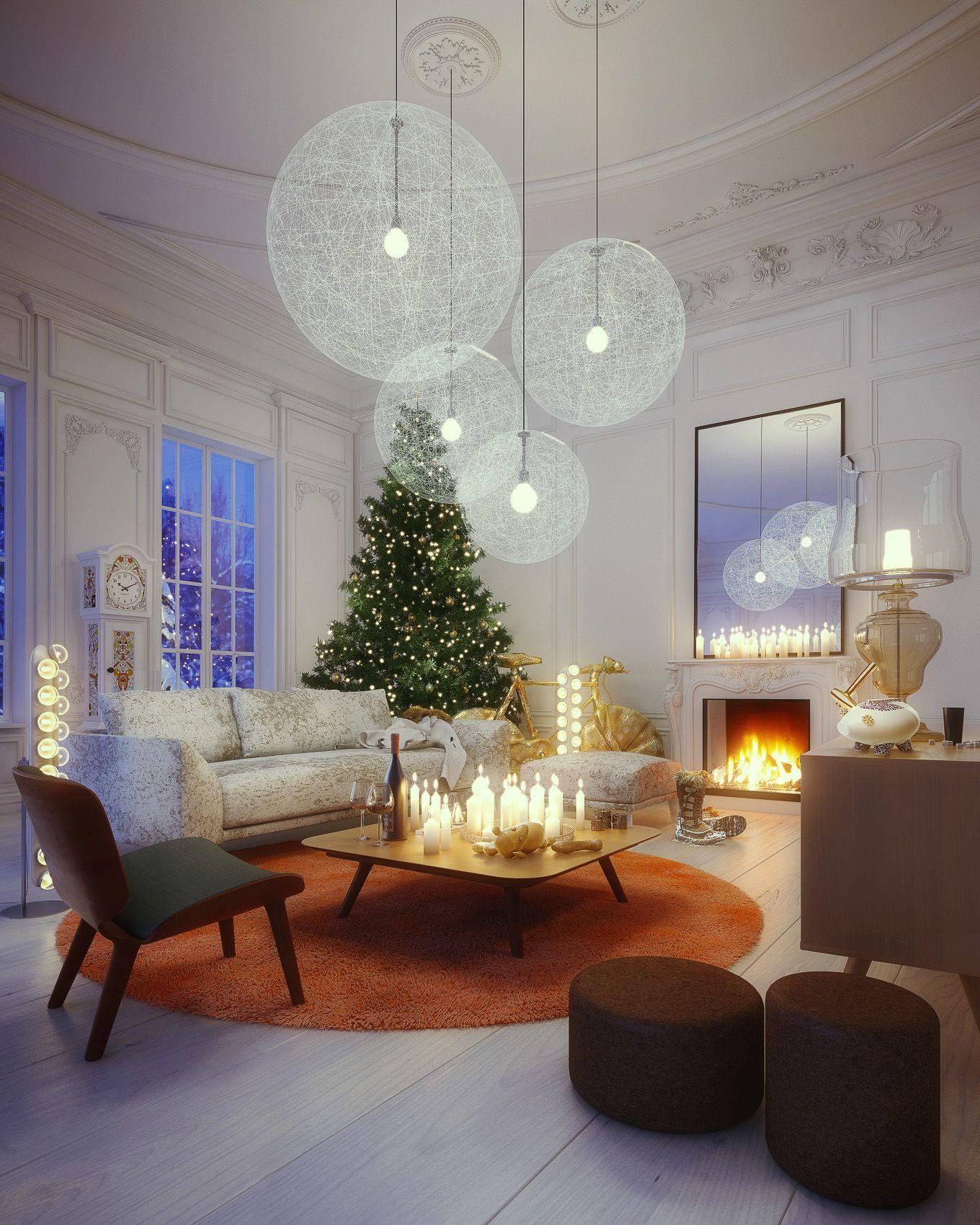 jolie decoration de noel. Black Bedroom Furniture Sets. Home Design Ideas