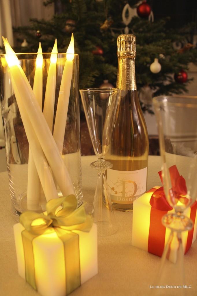 Noël-déco-champagne-et-bougies-led pour-une-fête-magique-dosnon-et-bloolands-sapin