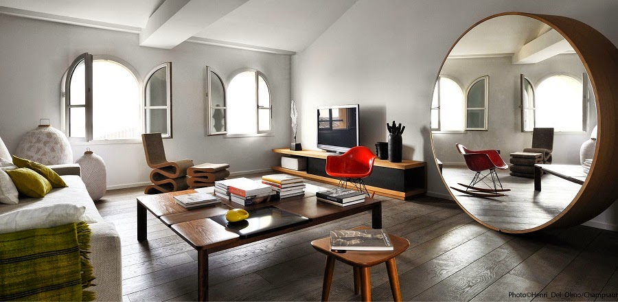 Miroir design archives le blog d co de mlc for Miroir design salon