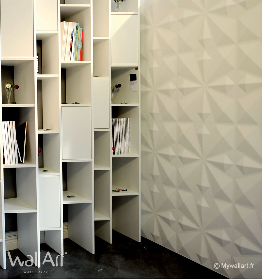 Papier peint graphique et papier peint relief pour un mur deco - Deco pour mur ...