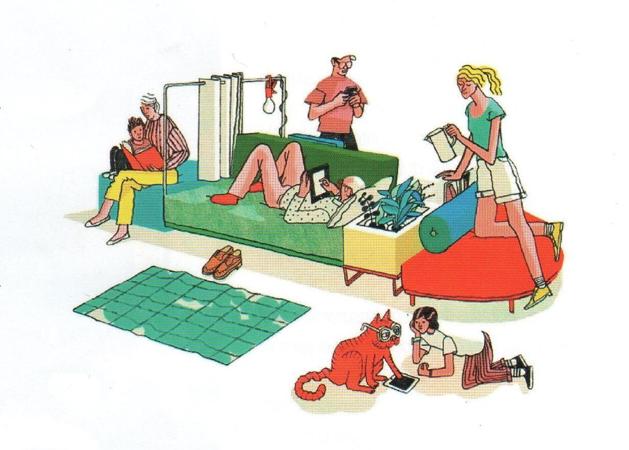 dessin d un salon. Black Bedroom Furniture Sets. Home Design Ideas