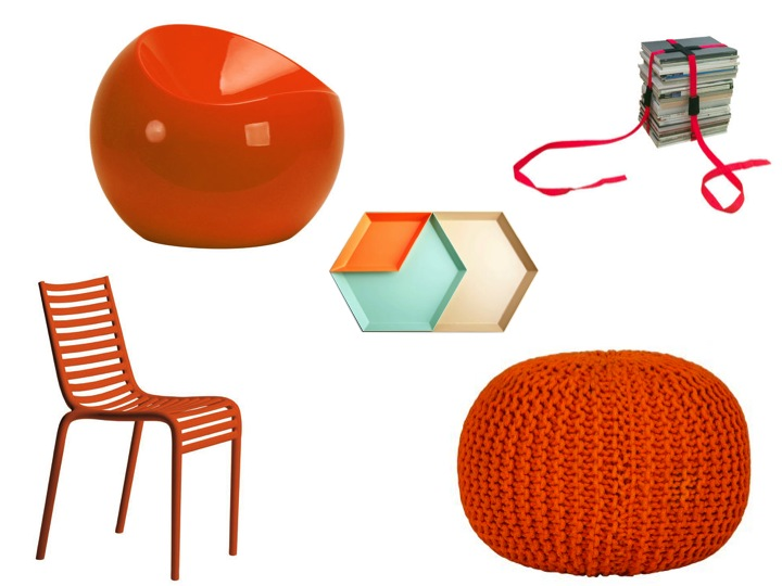couleur orange mandarine pour cet t le blog d co de mlc. Black Bedroom Furniture Sets. Home Design Ideas