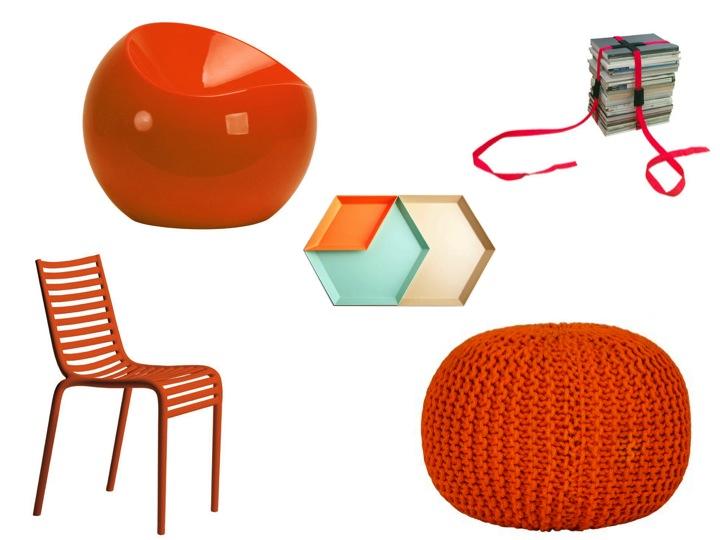 couleur orange mandarine pour cet t le blog d co de mlc. Black Bedroom Furniture Sets. Home Design Ideas