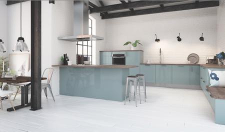 Cuisine-Bleu-pale-vert-menthe-Quelle couleur-choisir-pour-rénovation-hygena