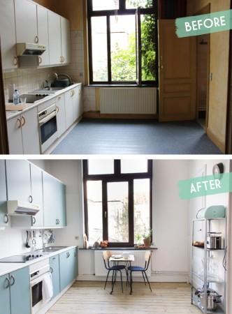 Cuisine-Bleu-vert-menthe-Quelle couleur-choisir-pour-rénovation-avant-apres-Auguste-et-Claire