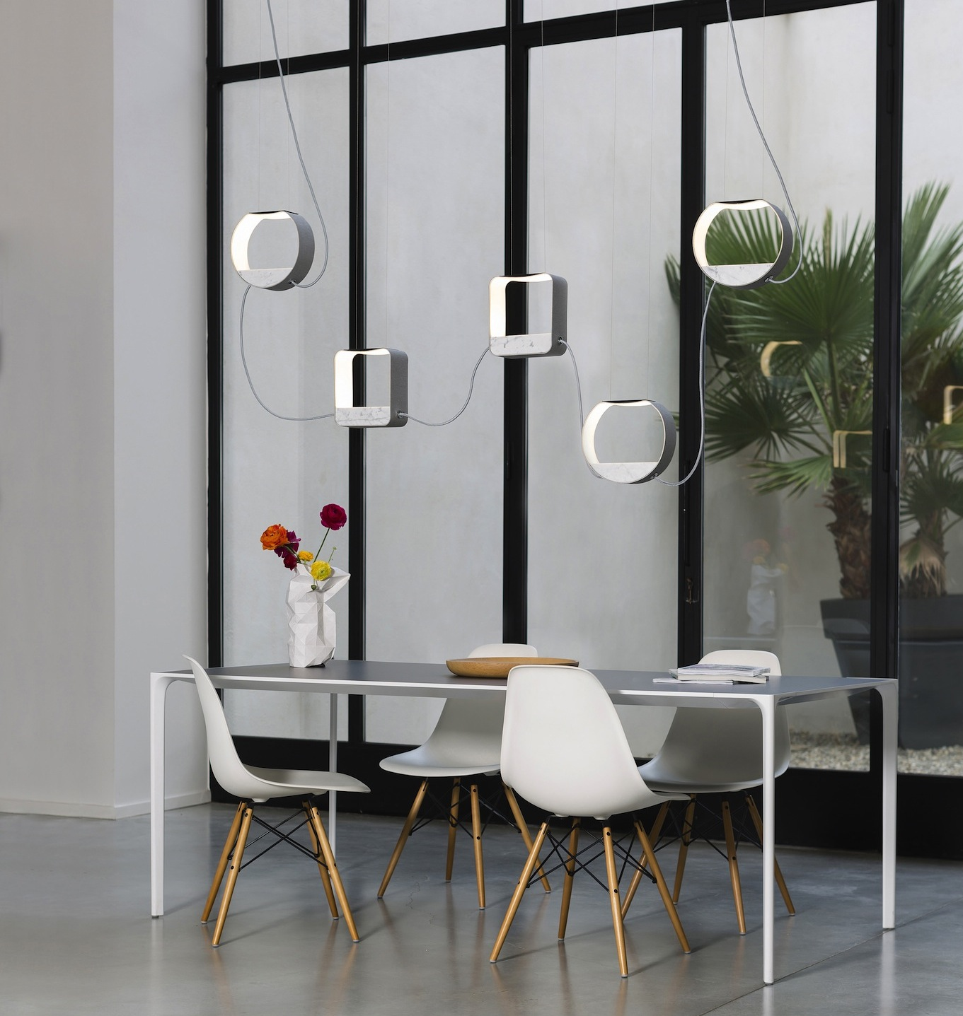 Suspension luminaire g om trique lampe for Lampe suspension salon