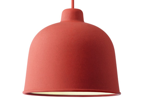 Muuto luminaire suspension bambou couleurs for Luminaire suspension rouge