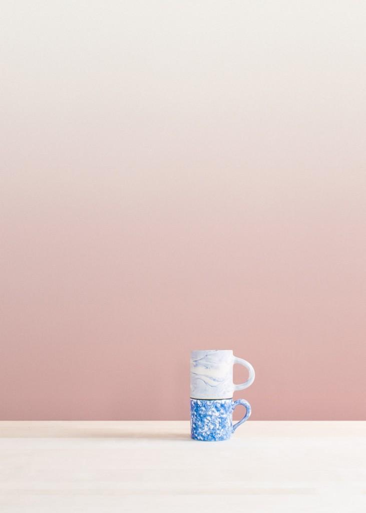 papier peint tie and dye Aurora-rose