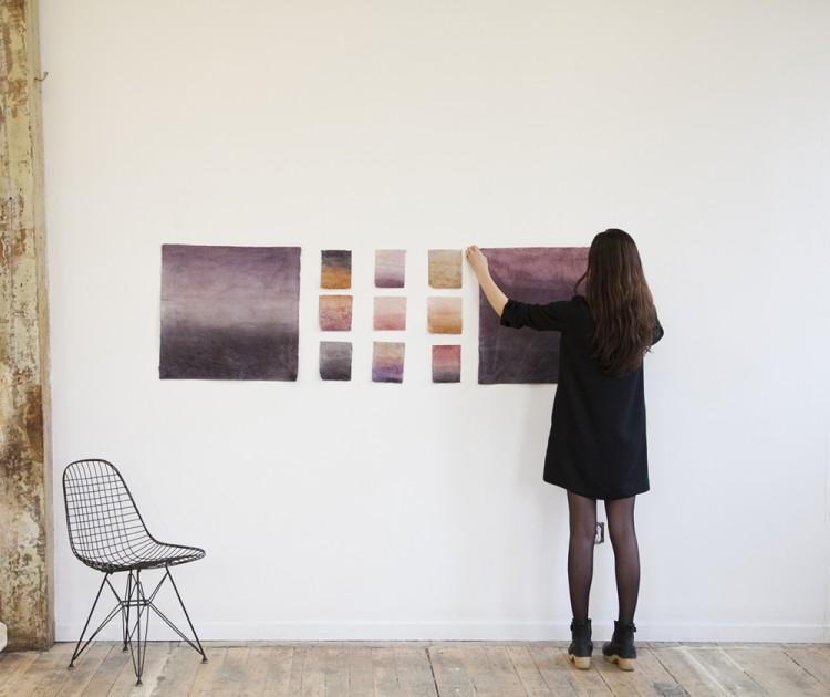 papier peint tie and dye sunrise Aurora prototype