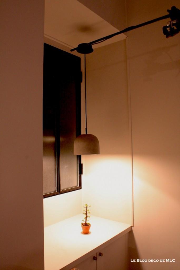 bo concept lampe geometry et plante