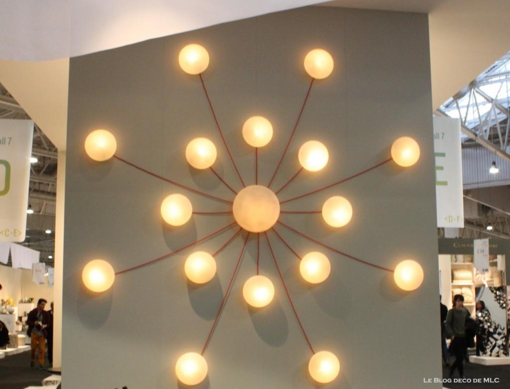 luminaire applique murale sphère ronde