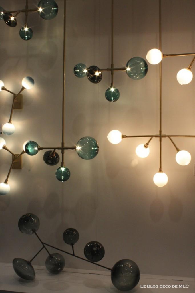 luminaires suspension applique cuivre et verre