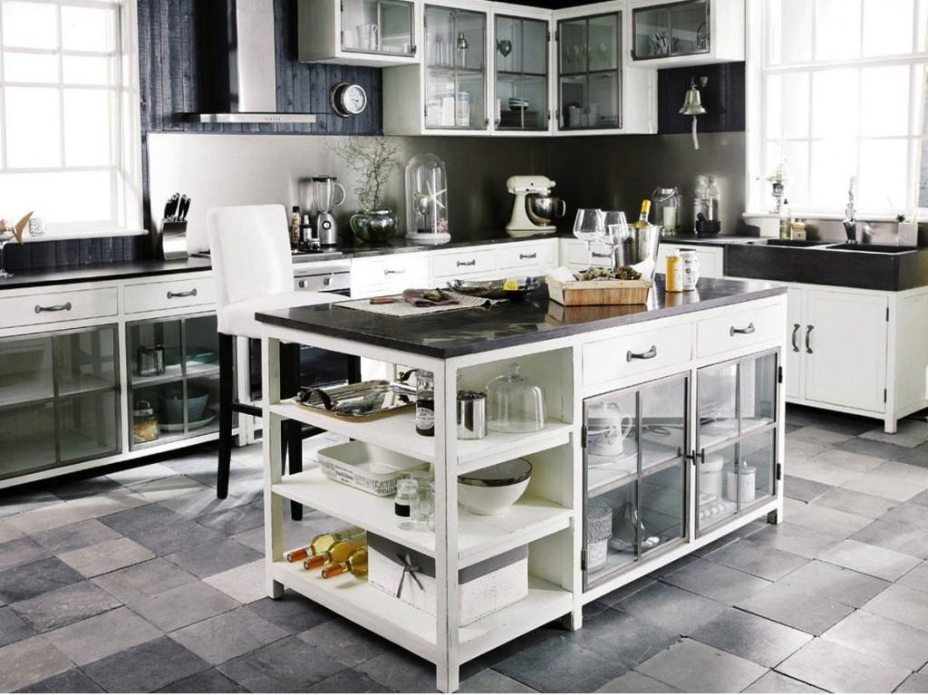 Meubles de cuisine ind pendant et ilot maison du monde for Mesas maison du monde