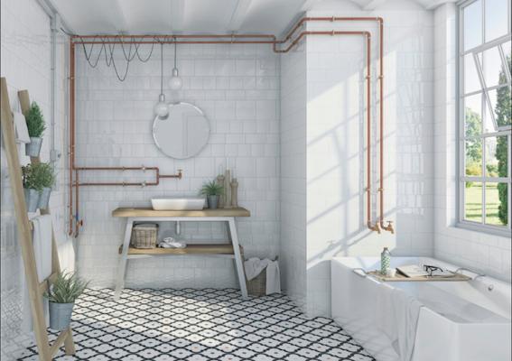 cuivre tube tuyeau et plomberie font la d co murale. Black Bedroom Furniture Sets. Home Design Ideas