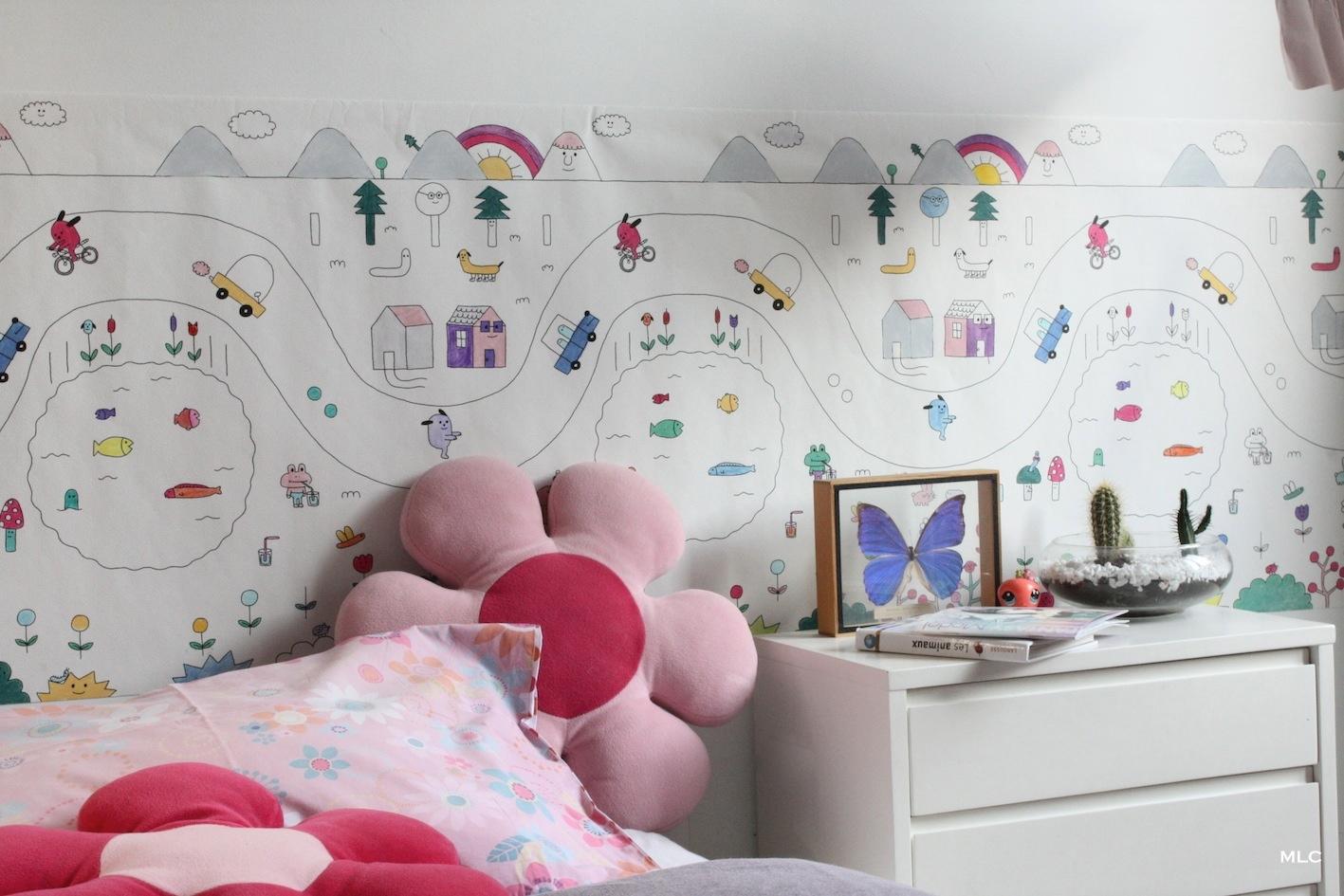 Coloriage enfant   papier peint pour chambre enfant déco