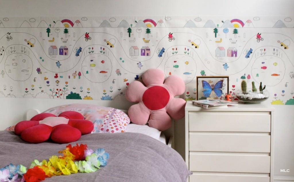 Coloriage enfant papier peint pour chambre enfant d co for Modele chambre papier peint