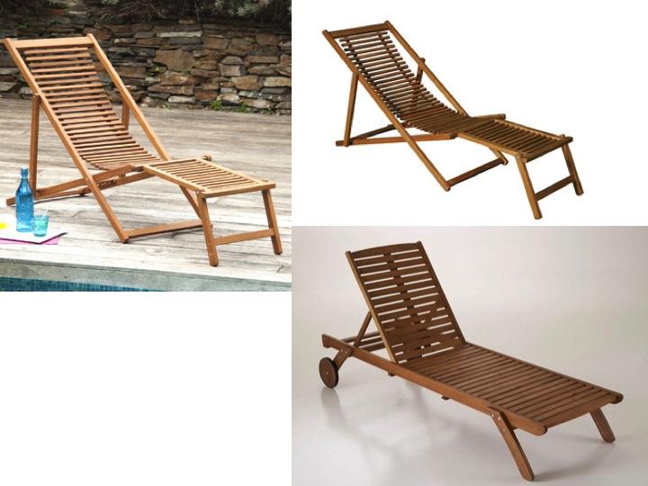 S lection chaise longue et transat autour de la piscine for Transat chaise longue bois