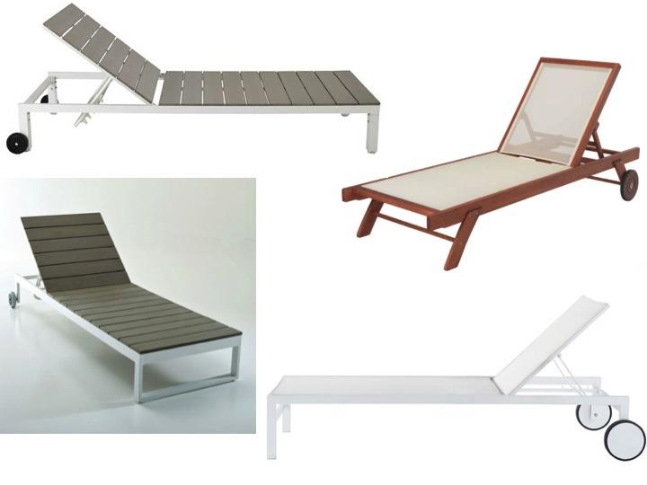 S lection chaise longue et transat autour de la piscine for Transats chaises longues