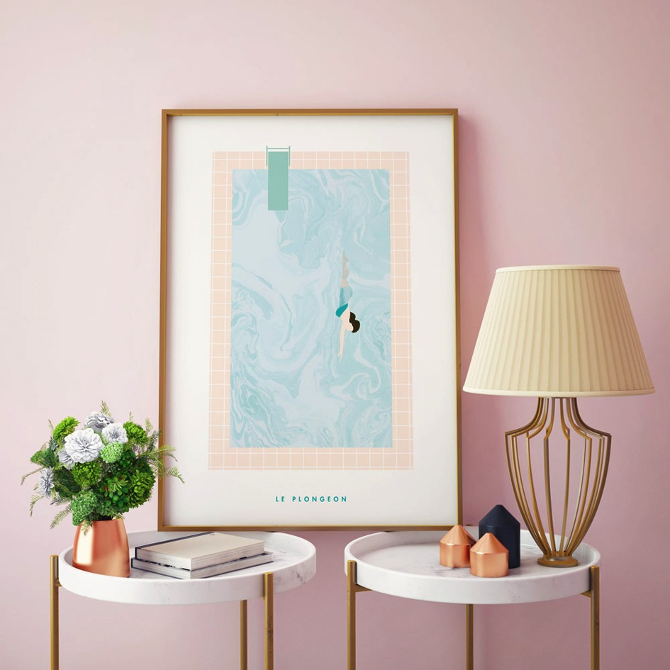 joli-poster-fille-wall-piscine-papermint