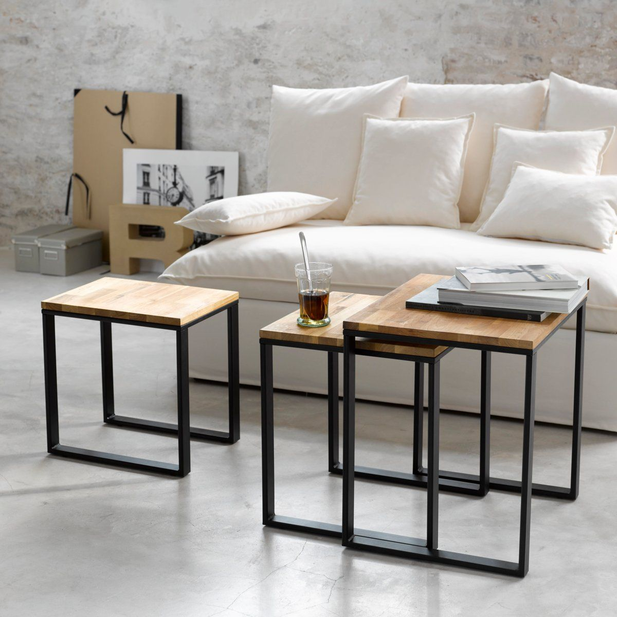 Table basse rep rage nouvelle tendance 1 le blog d co for Table noir et bois