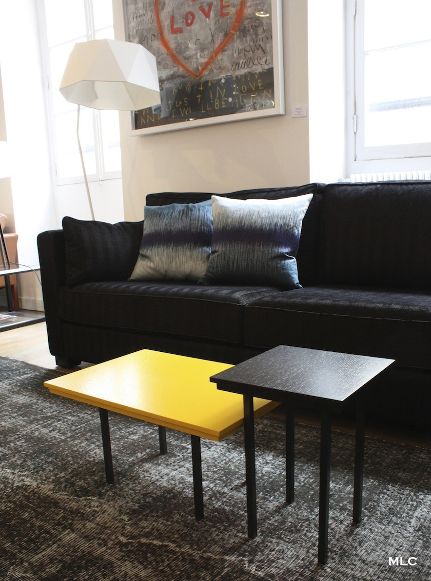 table basse jaune bois. Black Bedroom Furniture Sets. Home Design Ideas