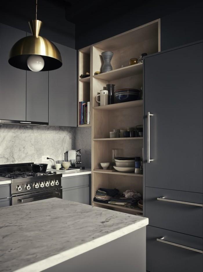 la hotte aspirante est invisible cach e dans le meuble cuisine. Black Bedroom Furniture Sets. Home Design Ideas