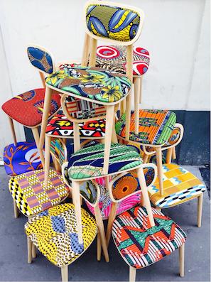 Les meubles wax d co - Chaise tissu couleur ...