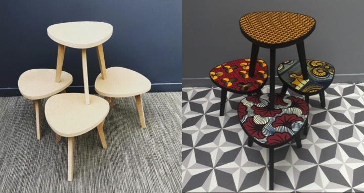 les meubles wax d co. Black Bedroom Furniture Sets. Home Design Ideas