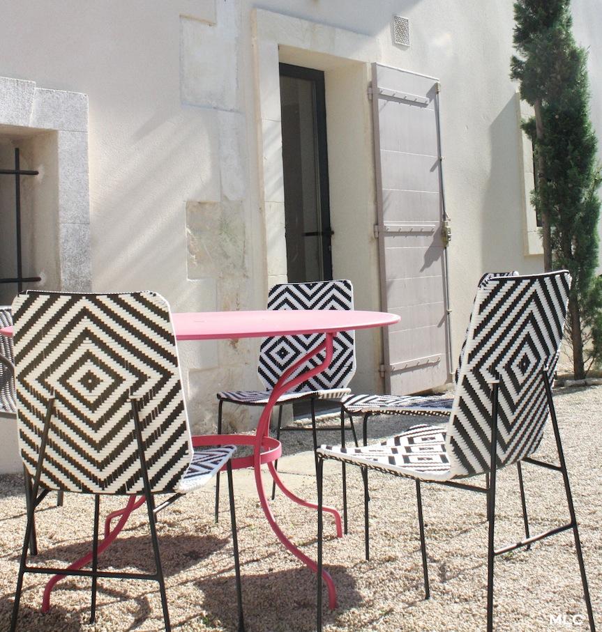 Ma jolie chaise de jardin motif d co le blog d co de mlc for Jardin noir et blanc