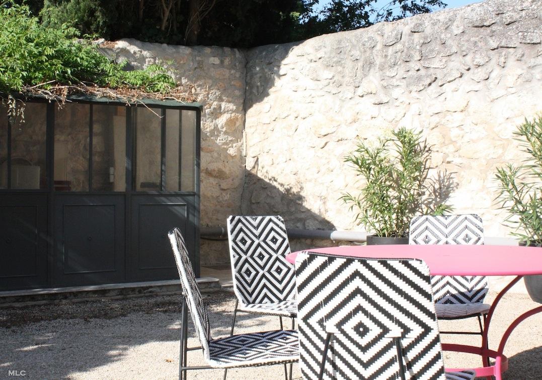 Ma jolie chaise de jardin motif d co le blog d co de mlc for Blog deco jardin