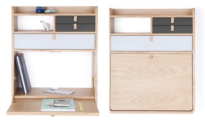 un bureau mural pour travailler la maison le blog d co. Black Bedroom Furniture Sets. Home Design Ideas
