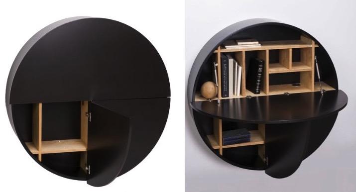 un bureau mural pour travailler la maison le blog d co de mlc. Black Bedroom Furniture Sets. Home Design Ideas