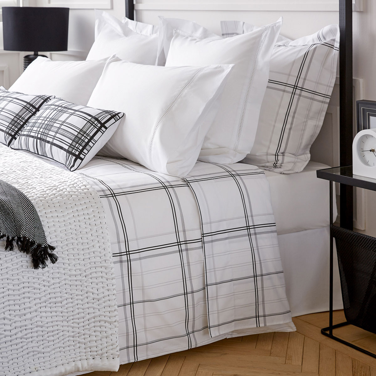 tendance d co carreaux blanc et noir. Black Bedroom Furniture Sets. Home Design Ideas