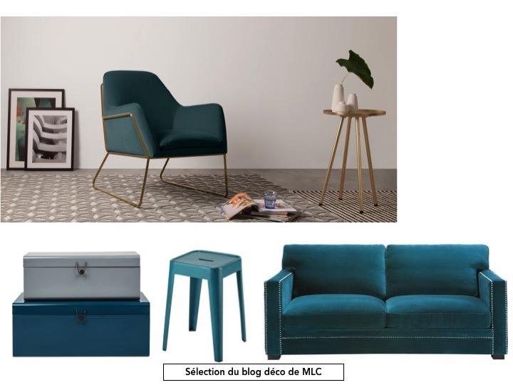Le bleu paon une couleur tendance Le Blog déco de MLC