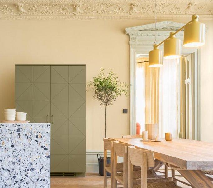 chambre vert amande amazing home ideas. Black Bedroom Furniture Sets. Home Design Ideas