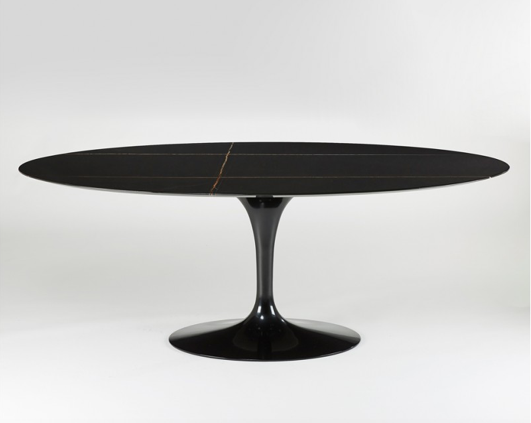 table salle a manger knoll table ovale marbre noir blog d co mlc. Black Bedroom Furniture Sets. Home Design Ideas
