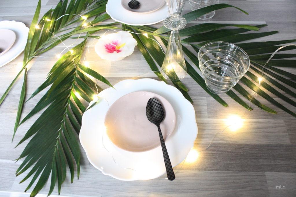 une d co de table tropical le blog d co de mlc. Black Bedroom Furniture Sets. Home Design Ideas