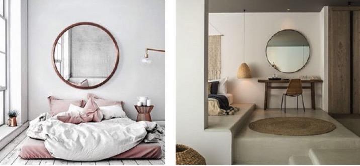 Les plus jolis miroirs ronds design s lection le blog for Miroir rond chambre
